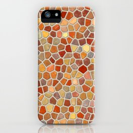 Fall Colors Mosaic Pattern - light iPhone Case