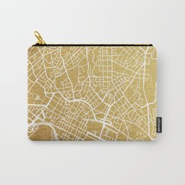 Gold Oslo map Carry-All Pouch