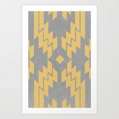 Concrete & Aztec Art Print