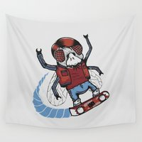 mcfly Wall Tapestries featuring Marty McFLY by Timo Ambo