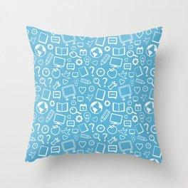 Drawings Pattern Throw Pillow
