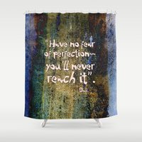 dali Shower Curtains featuring Dali quote by Menchulica