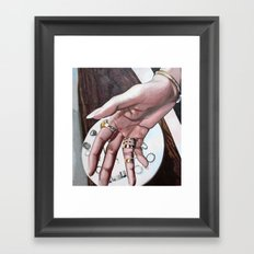 Re-Created Hand, the Touch of Love by Robert S. Lee Framed Art Print