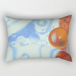 Oil bubbles in blue,orange and white Rectangular Pillow