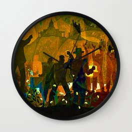 From Slavery thru Reconstruction - 135th Street Mural NY Public Library by Aaron Douglas Wall Clock