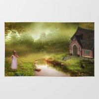 fairy tale Area & Throw Rugs featuring Fairy Tale by Susann Mielke