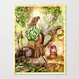 A Girl and Her Guitar  Canvas Print
