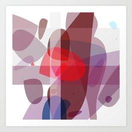 Drifting conglomerate of purple Art Print