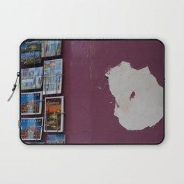 Edinburgh postcards and wall corner grocer Royal Mile Laptop Sleeve