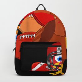 Turkey With Football Thankful Backpack