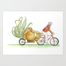 Sprouting Onion Art Print