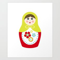 Matryoshka Doll 3 Art Print