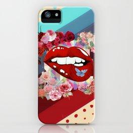 Retro Floral Gradient I iPhone Case