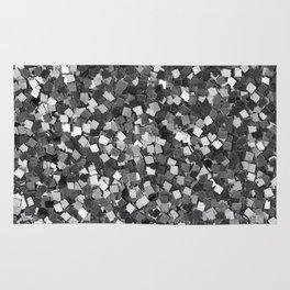 Dazzling Sparkles (Black and White) Rug