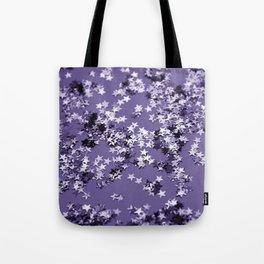 Ultra Violet Glitter Stars #1 #shiny #decor #art #society6 Tote Bag