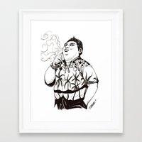 karl Framed Art Prints featuring Karl by vaporcomics