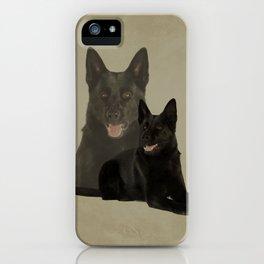 Black German Shepherd Dog - GSD iPhone Case