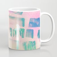 coral Mugs featuring Coral by Amy Sia