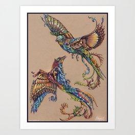 Flight Of Paradise Art Print