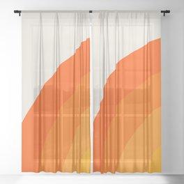 Sunrise Rainbow - Left Side Sheer Curtain