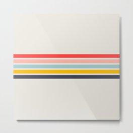 Naomori - Classic Minimal Retro Stripes Metal Print