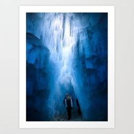 Ethereal Ice Caves Art Print