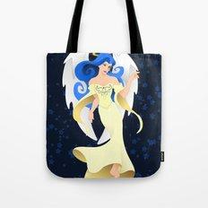 Blue Hair Angel Tote Bag