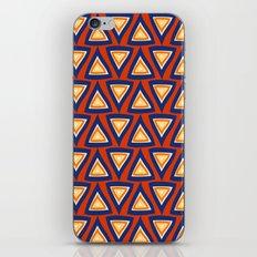 Blue Orange Triangles iPhone & iPod Skin