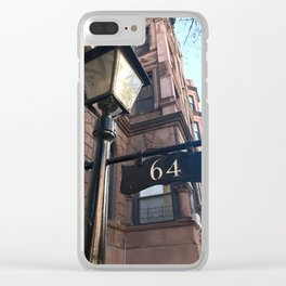 Classic Brownstone Clear iPhone Case