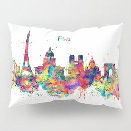 Paris Skyline Silhouette Pillow Sham