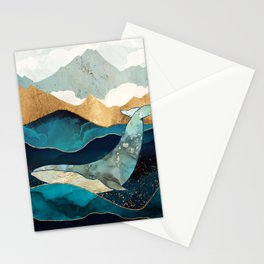 Blue Whale Stationery Cards