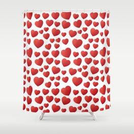 Hearts Pattern Shower Curtain