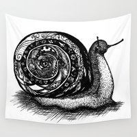 snail Wall Tapestries featuring Snail by Ghost