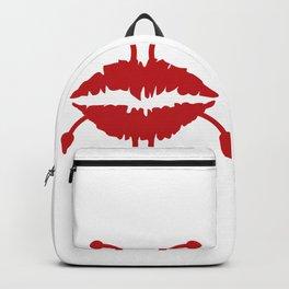 Funny lips cartoon #society6 #decor #buyart #artprint Backpack