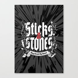 Sticks and Stones Canvas Print