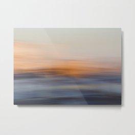 Undulating Sunset Metal Print