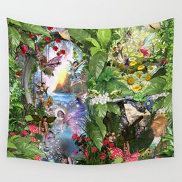 Fairy Kingdom Forest Dreamland Fantasy Stories Wall Tapestry