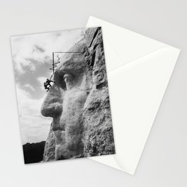 Mt. Rushmore Under Construction - Washington Sculpture Stationery Cards