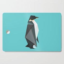 Fractal geometric emperor penguin Cutting Board