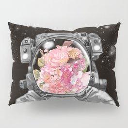 Astronaut Flowers Selfie Pillow Sham