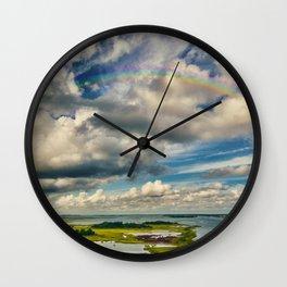 The Emerald Rainbow Wall Clock