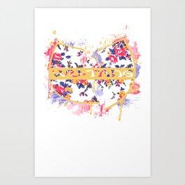 Wutang Wednesday Floral Print Redesign  Art Print