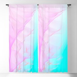 Pastel Motion Vibes - Pink & Turquoise #abstractart #homedecor Blackout Curtain