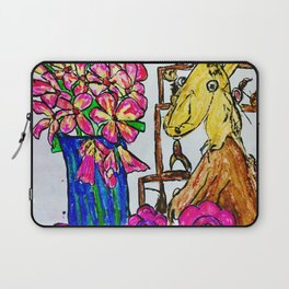 Myff Pet and Flowers Laptop Sleeve