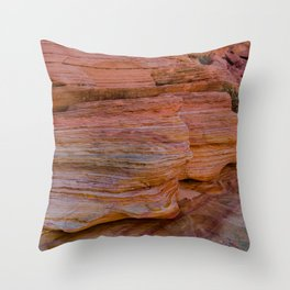 Colorful Sandstone, Valley of Fire - IIa Throw Pillow