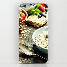healthy breakfast iPhone Skin