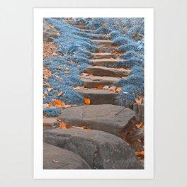 Sapphire Stepping Stones Art Print