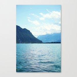 Blue water, blue earth Canvas Print