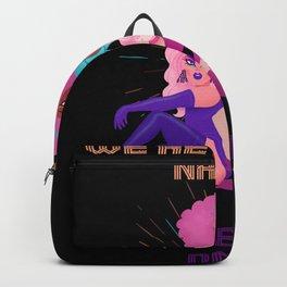 Cool LGBTQ queer queen trans bi rainbow CSD shirt Backpack