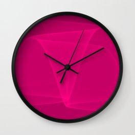 Abstract #4 (Fuchsia/DarkMagenta) Wall Clock
